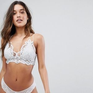 Free People Adella White Lace Bralette XS